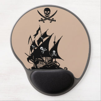 Pirate flag wild duck pirate ship mousepad