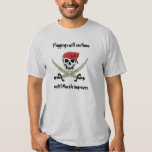 Pirate Floggings Jolly Roger T-Shirt