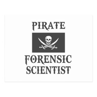 Pirate Forensic Scientist Postcard