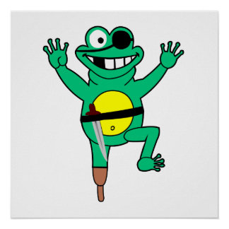 Pirate Frog Posters