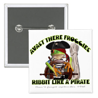 Pirate froggy button