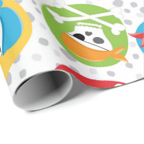 Pirate fun themed pattern wrapping paper