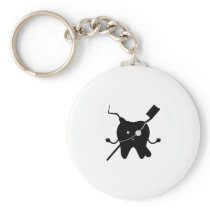 Pirate Funny Dentis Dental Gifts For Men Women Keychain
