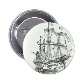 Pirate Galleon at Sea Pins