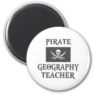 Pirate Geography Teacher Magnet