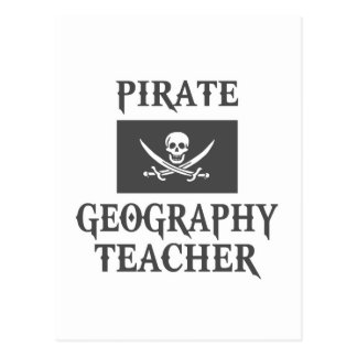 Pirate Geography Teacher Postcard