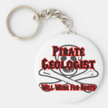 Pirate Geologist ... Will Work for Booty Keychain