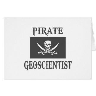 Pirate Geoscientist Greeting Cards