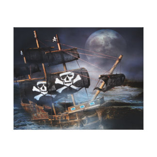 PIRATE GHOST SHIP CANVAS PRINT