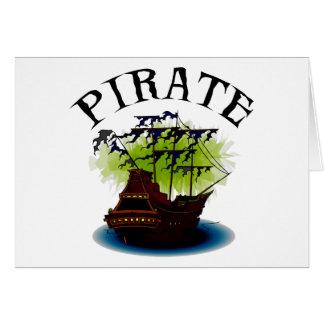 Pirate Ghost Ship Card