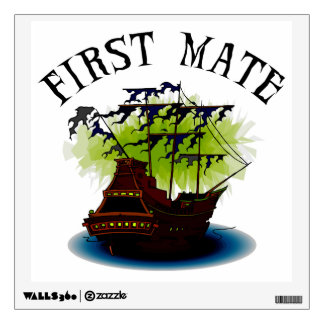 Pirate Ghost Ship - First Mate Wall Sticker