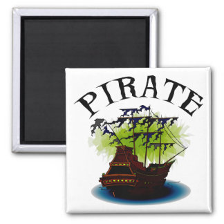 Pirate Ghost Ship Refrigerator Magnet