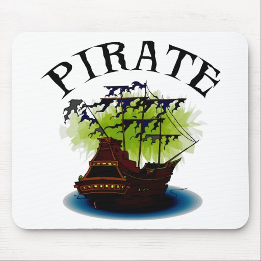 Pirate Ghost Ship Mouse Pad