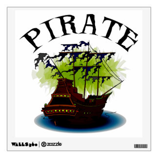 pirate ship wall decals amp wall stickers zazzle pirate ship wall sticker wall stickers