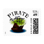 Pirate Ghost Ship Postage Stamps