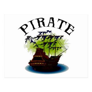 Pirate Ghost Ship Postcard