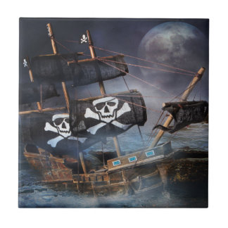 PIRATE GHOST SHIP TILE