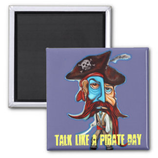 Pirate Gifts 2 Inch Square Magnet