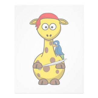 Pirate Giraffe Letterhead