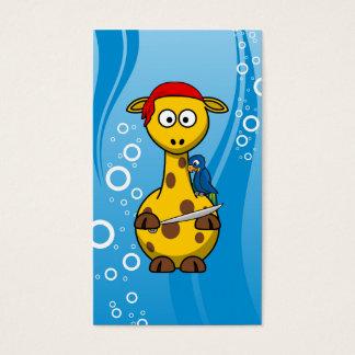 Pirate Giraffe Water Background Business Card