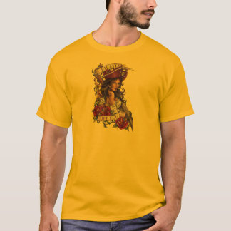 """Pirate Girl """"A pirate's life for me"""" T-Shirt"""