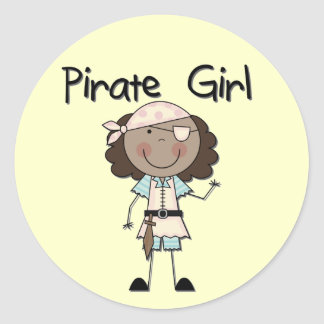 Pirate Girl African American Tshirts and Gifts Stickers