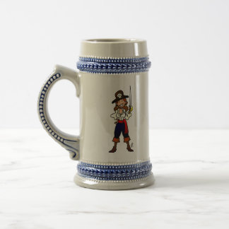 Pirate girl beer stein
