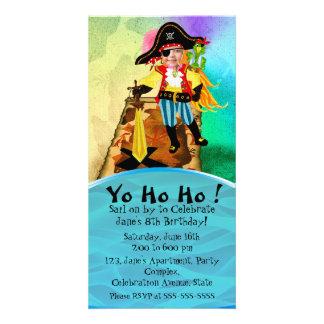 Pirate girl birthday invitation