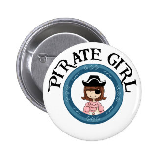 Pirate Girl Pinback Buttons