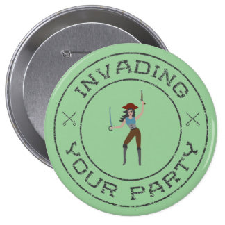 Pirate Girl Button