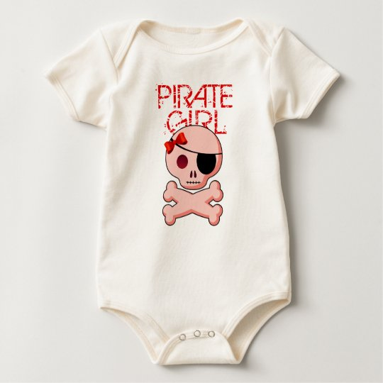 Pirate Girl Costume - Fun Kids Pirate Party Baby Bodysuit