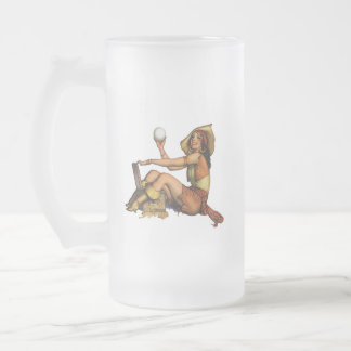 Pirate Girl Frosted Glass Mug