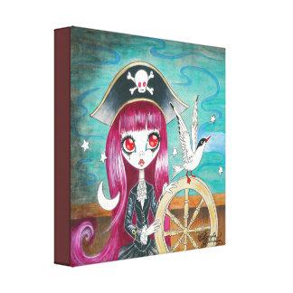 "Pirate Girl : ""Hilda"" Canvas Print"