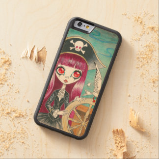 "Pirate Girl : ""Hilda"" Carved Maple iPhone 6 Bumper Case"
