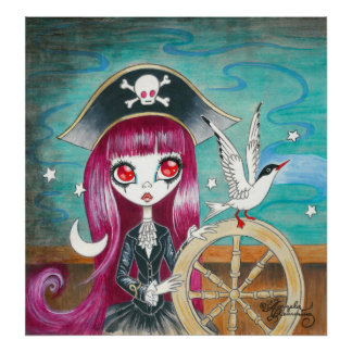 "Pirate Girl : ""Hilda"" Poster"