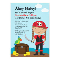 Pirate Girl Invitation