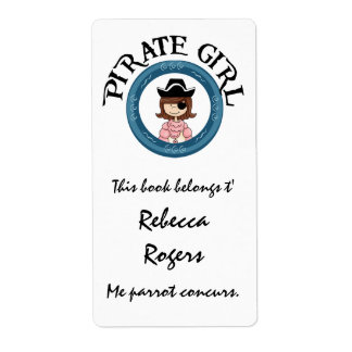 Pirate Girl Label Labels