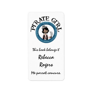 Pirate Girl Label Personalized Address Labels