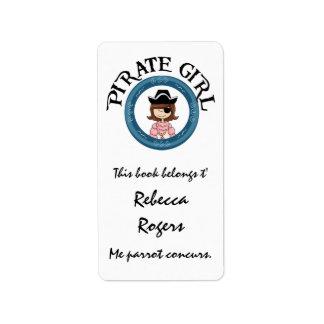 Pirate Girl Label Custom Address Label