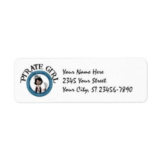 Pirate Girl Label Return Address Labels
