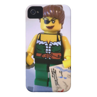 Pirate Girl Minifig with Treasure Map Case-Mate iPhone 4 Case