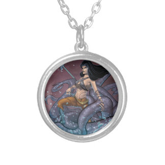Pirate Girl Silver Plated Necklace