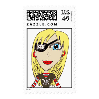Pirate Girl Stamps