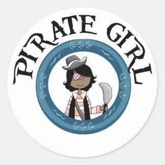 Pirate Girl Stickers