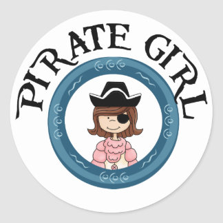 Pirate Girl Stickers