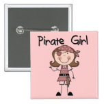 Pirate Girl Tshirts and Gifts Buttons