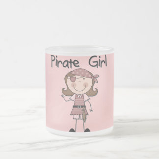 Pirate Girl Tshirts and Gifts 10 Oz Frosted Glass Coffee Mug