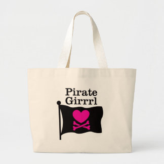 Pirate Girrrl Large Tote Bag