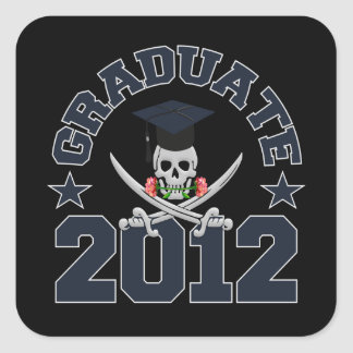Pirate Graduate 2012 stickers
