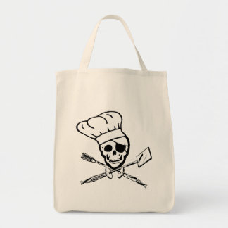 Pirate Grill Chef Tote Grocery Tote Bag